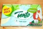 Т.папір TENTO FEMILY жовтий 8*145/6 шт (шт.)